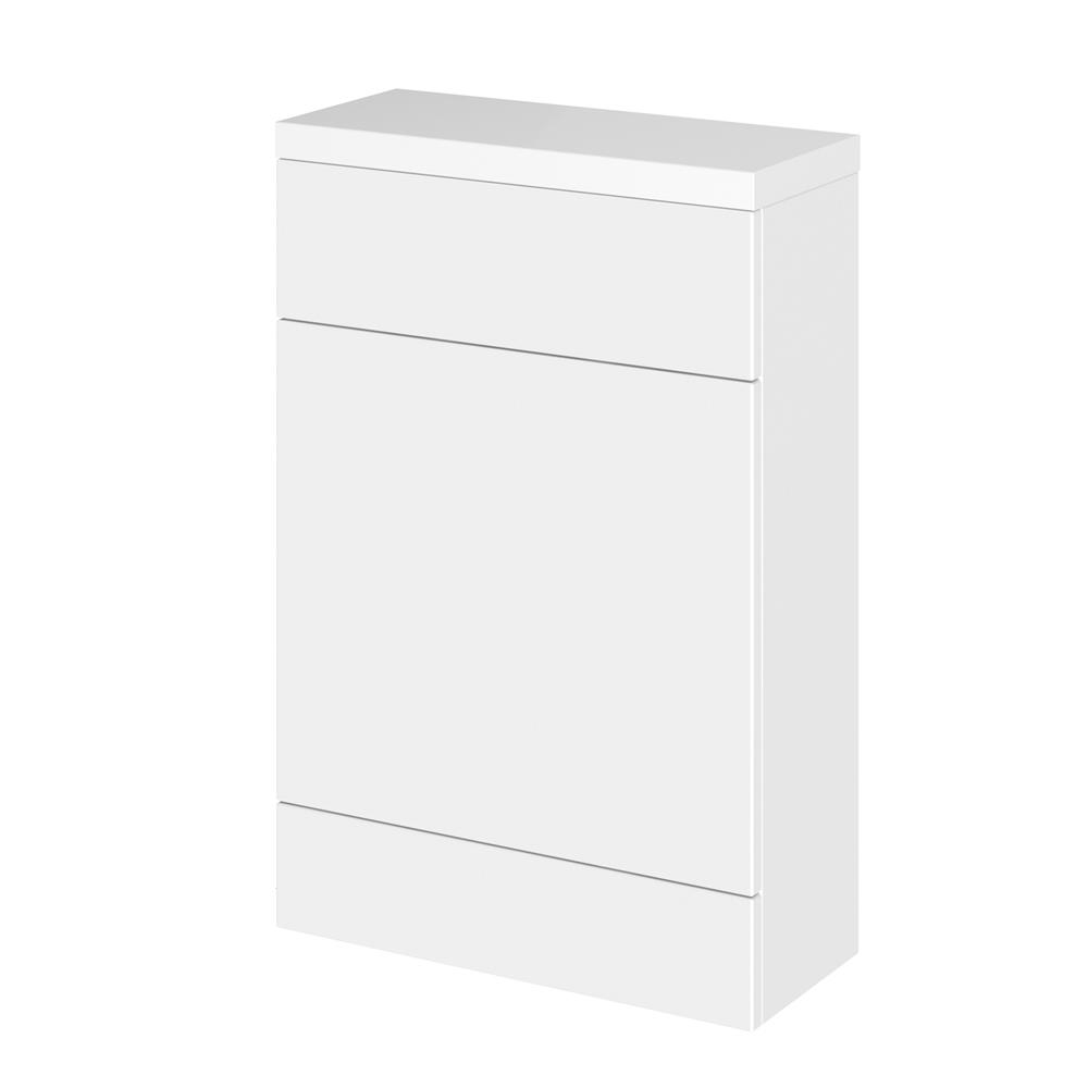 50cm x 25,5cm X 86,4cm Modern Wit hoogglans Staand WC meubel - stortbak & toilet niet inbegrepen