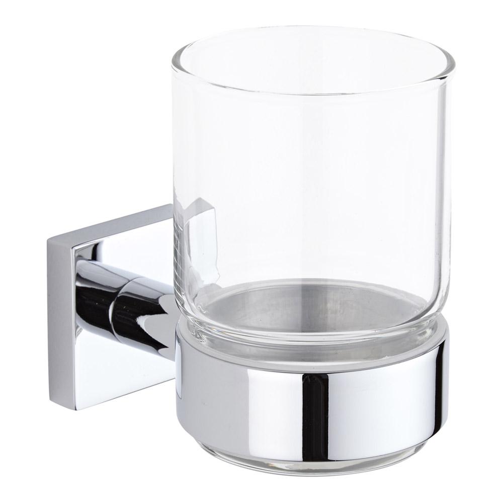 Liso Glashouder met Glas - Helder glas / Chroom