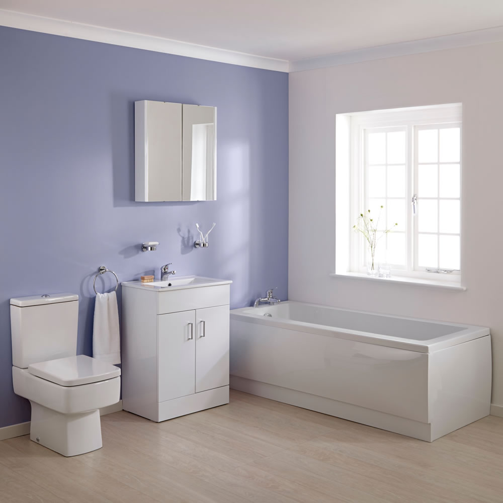 Wastafelmeubel, Ligbad & Toilet combi 170cm x 70cm