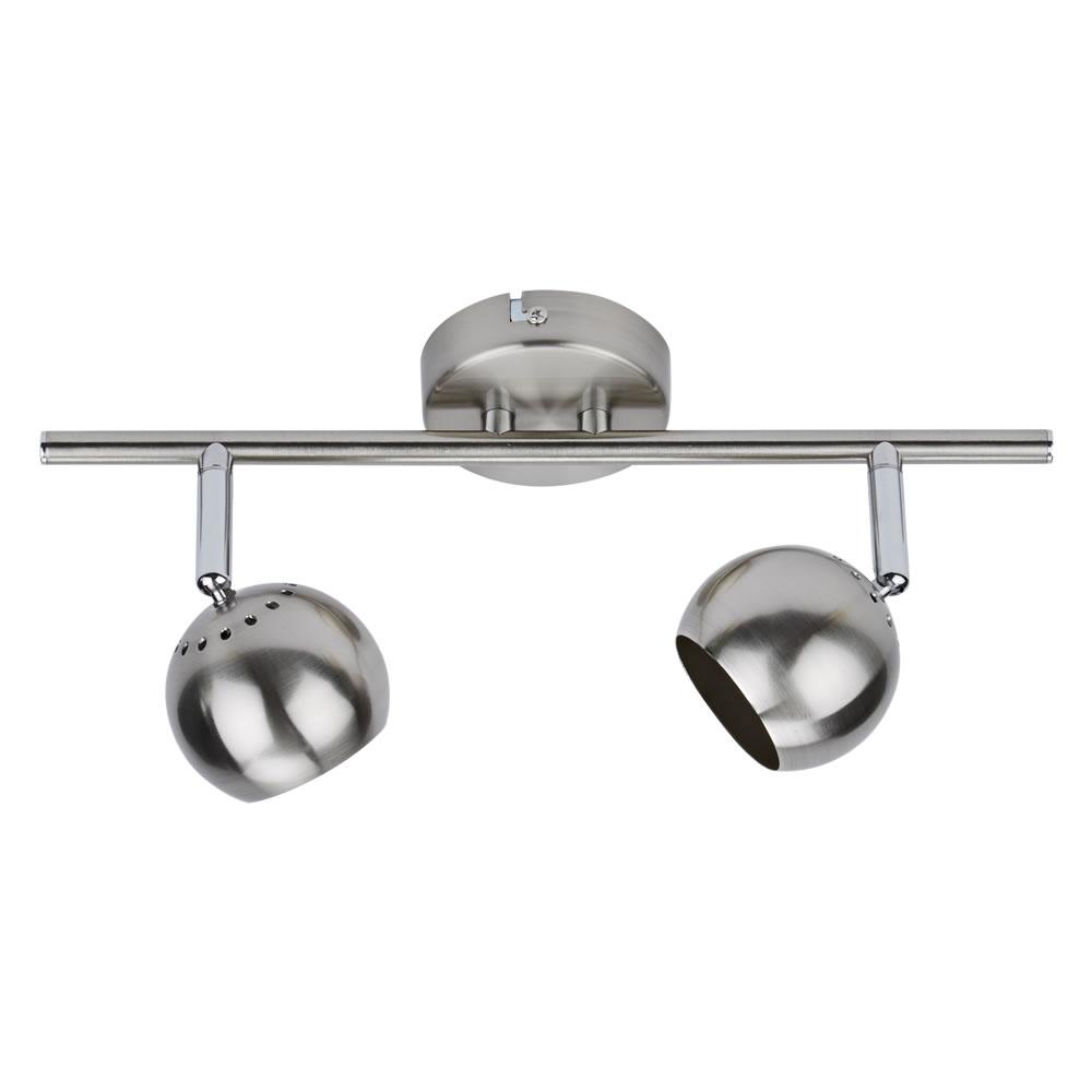 Biard GU10 Plafondspot met 2 spots - RVS