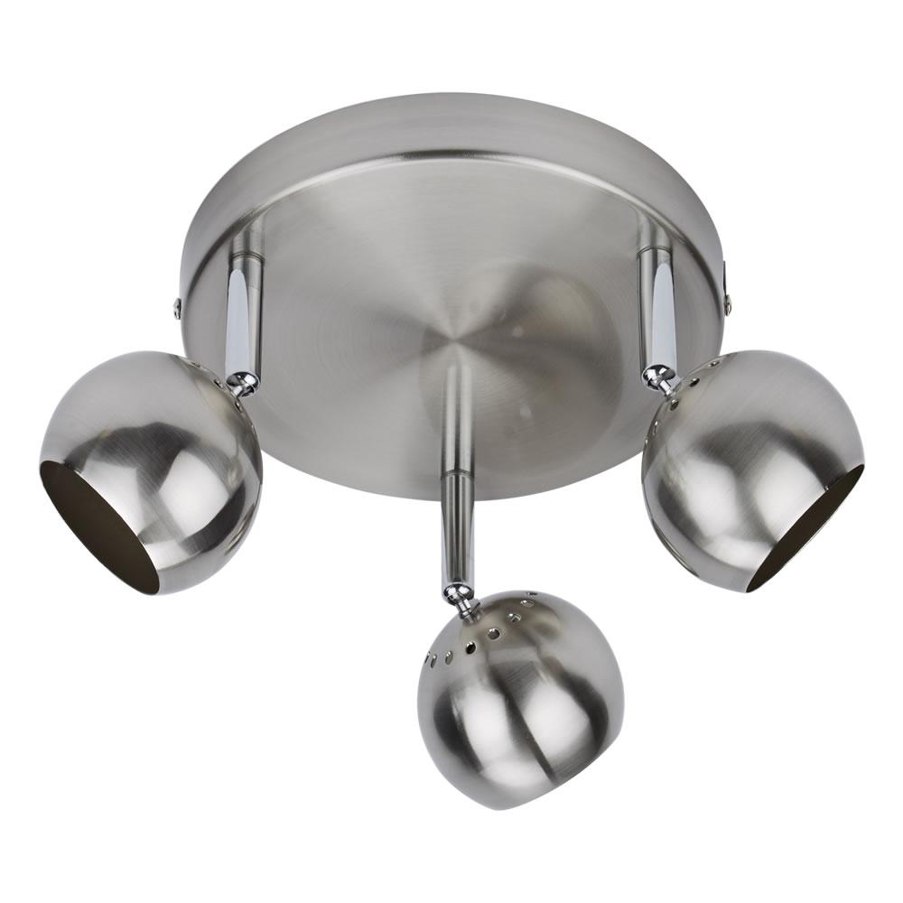 Biard RVS GU10 Plafondspot met 3 spots - Satijn Nikkel