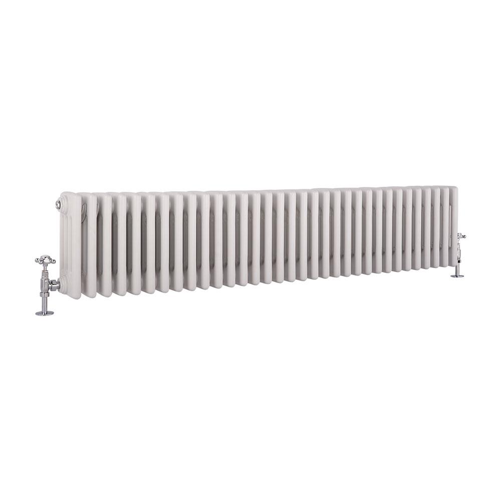 Windsor Designradiator Horizontaal Klassiek Wit 30cm x 148,5cm x 13,3cm 1793 Watt