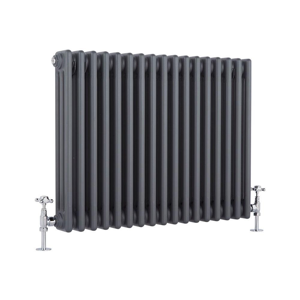 Windsor Designradiator Horizontaal Klassiek Antraciet 60cm x 76,5cm x 10cm 1386 Watt