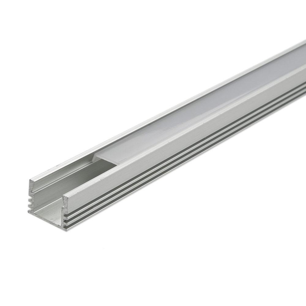 Multipak - 5 x 1 Meter Aluminium Profiel voor LED Stripverlichting - Doorzichtig of Matt