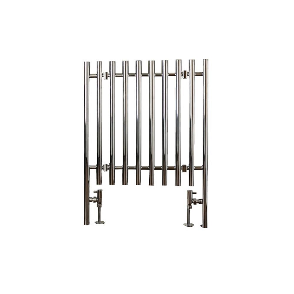 Select Gebogen Handdoekradiator Chroom 80cm x 60cm x 5,8cm 563 Watt