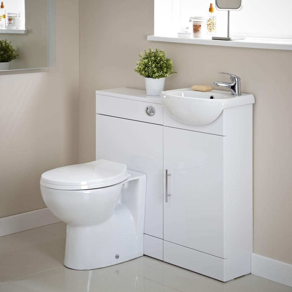 Toiletmeubel Sienna Inclusief Toilet, WC Bril, Reservoir, Wasbak en Kraan