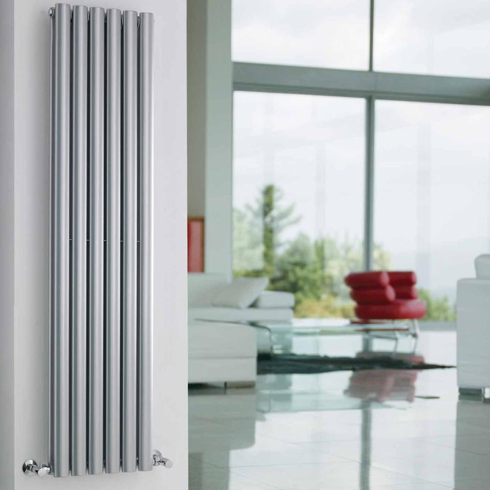 Revive Designradiator Verticaal Zilver 150cm x 35,4cm x 10,5cm 1380 Watt