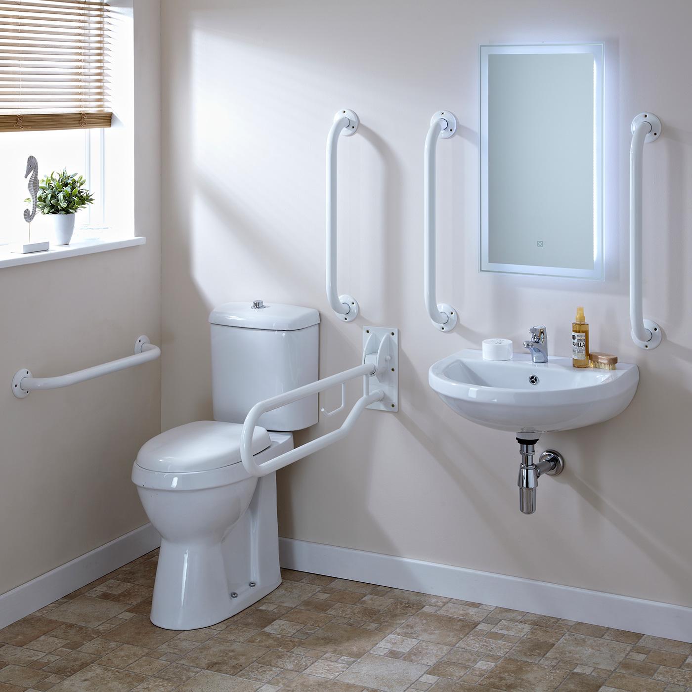 Document M. gehandicapten toilet,wasbak, kraan en toiletbeugels