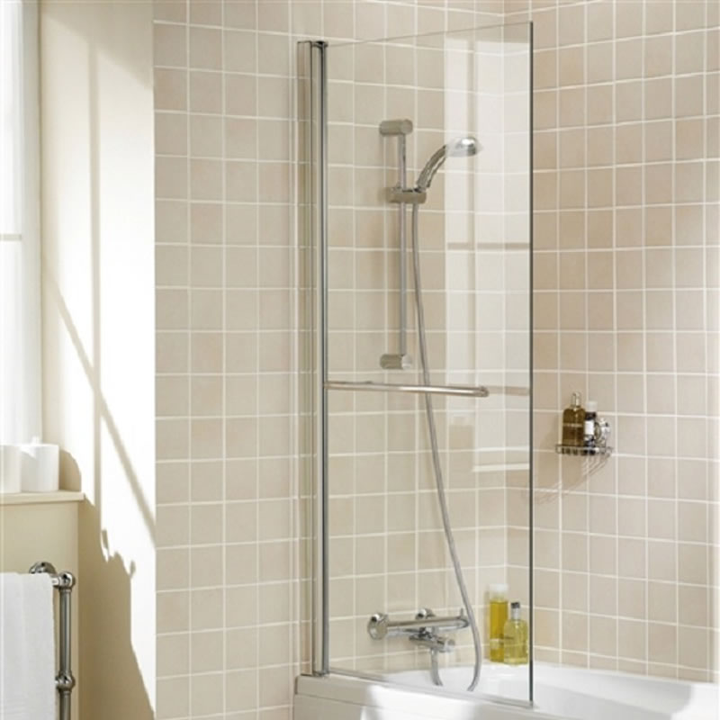 Ella omkeerbare badwand met handdoekenrek - 143,5cm x 79cm