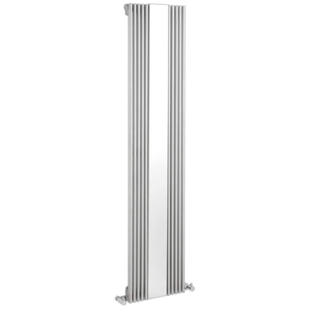 Keida Designradiator Verticaal Met spiegel Wit 160cm x 42cm x 6,3cm 840 Watt