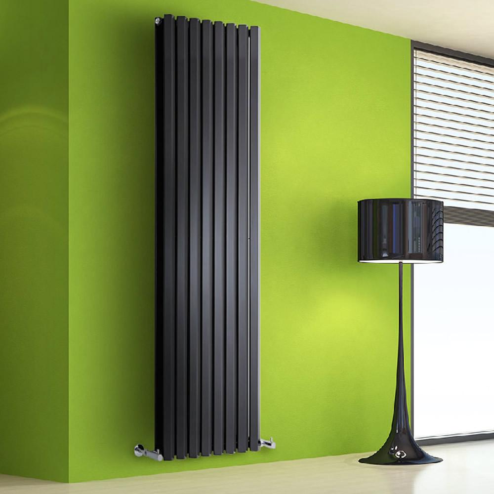 Helius Designradiator Verticaal Zwart 178cm x 150cm x 8,6cm 2158 Watt