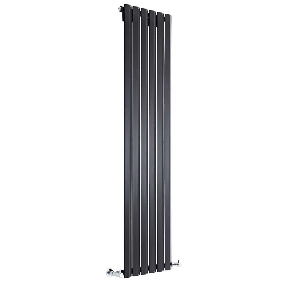 Helius Designradiator Verticaal Zwart 160cm x 42cm x 6cm 946 Watt