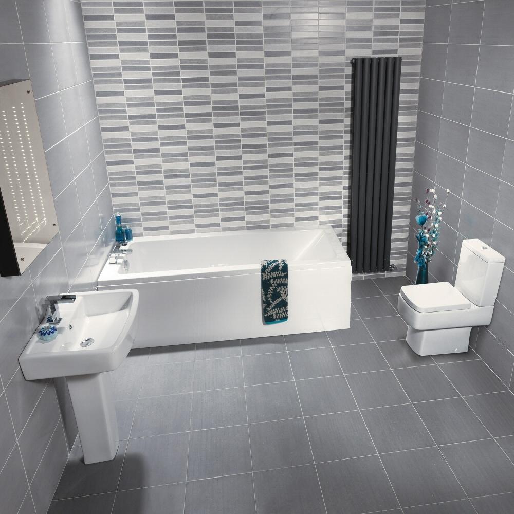Modern Brisbane Compleet badkamerset incl. bad, wastafel en toilet