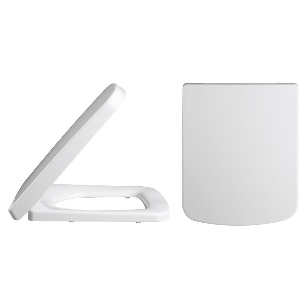 Vierkant witte toiletzitting