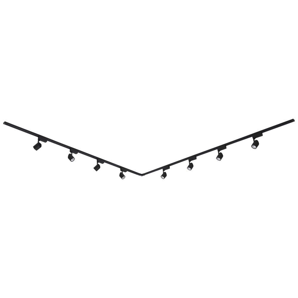 Biard 8 x 7W LED Railverlichting incl Hoekverbinder - 2 x 2 mtr. - L model - Zwart