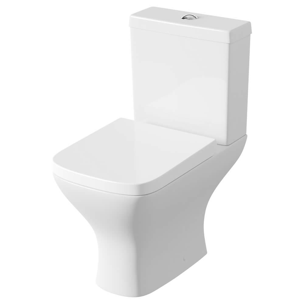 Modern Wit Keramiek Toilet incl Stortbak