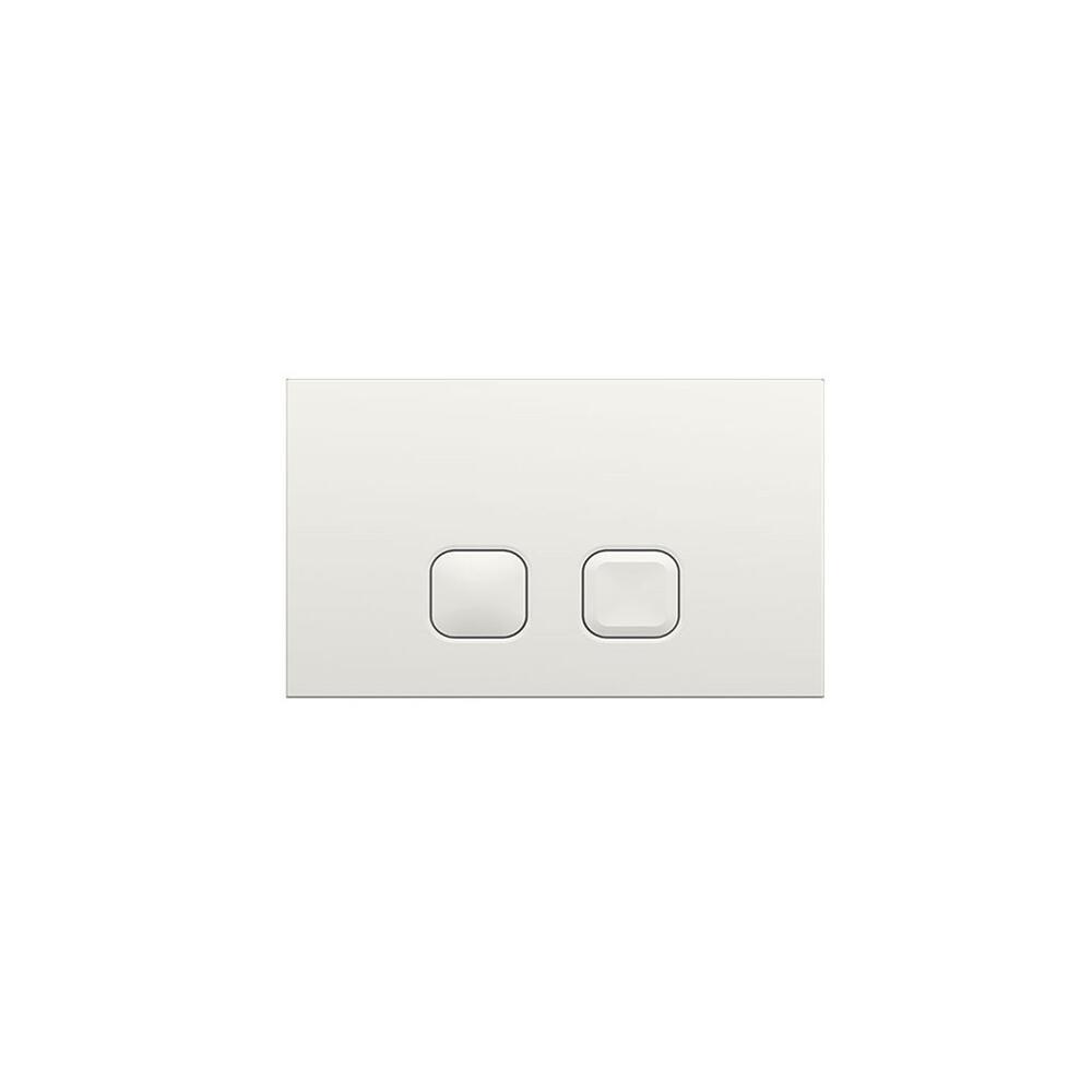 Dubbele Spoelknop Vierkant Wit 15 x 23 x 0,65cm