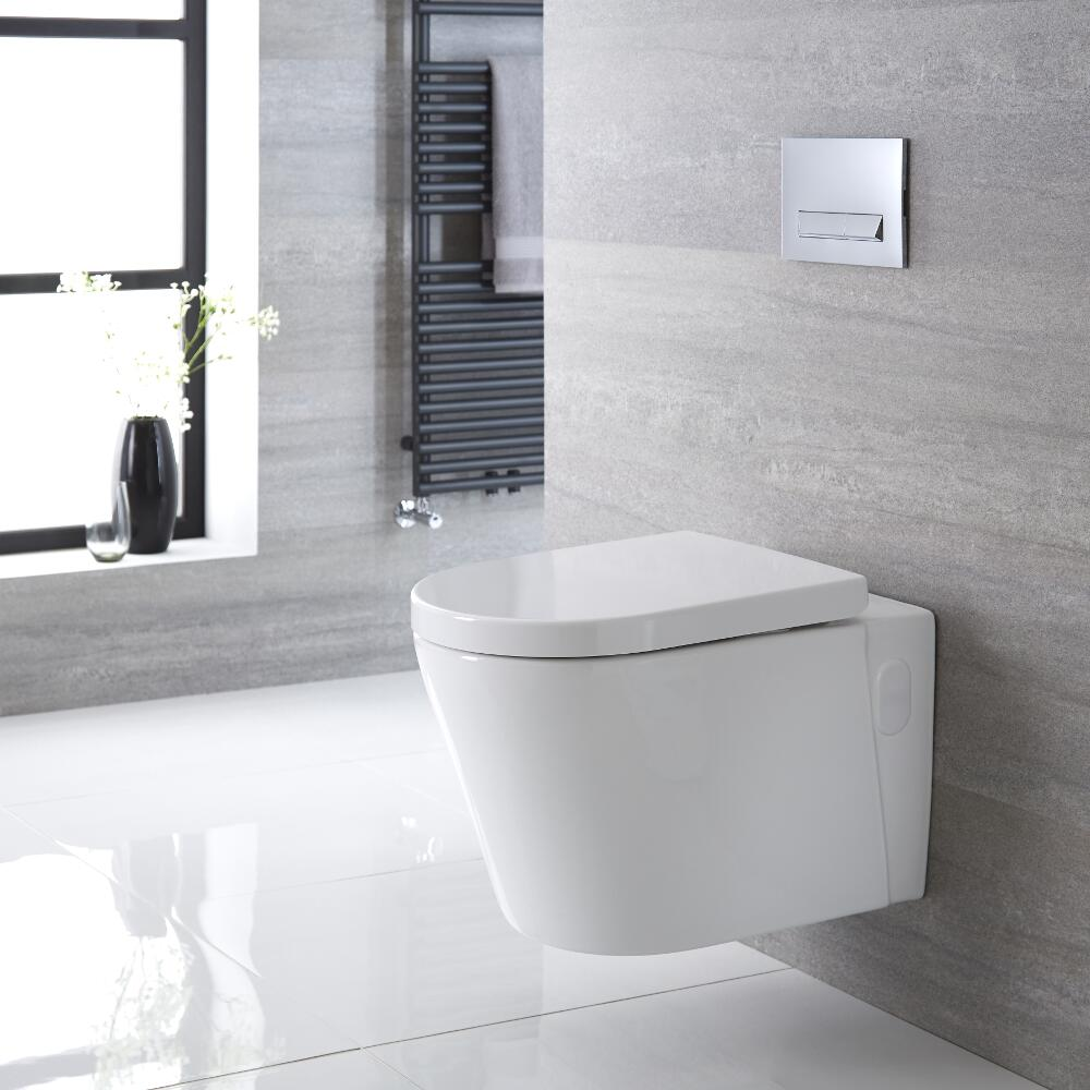 Farington Hangend Keramiek Toilet incl WC Bril Ovaal Wit