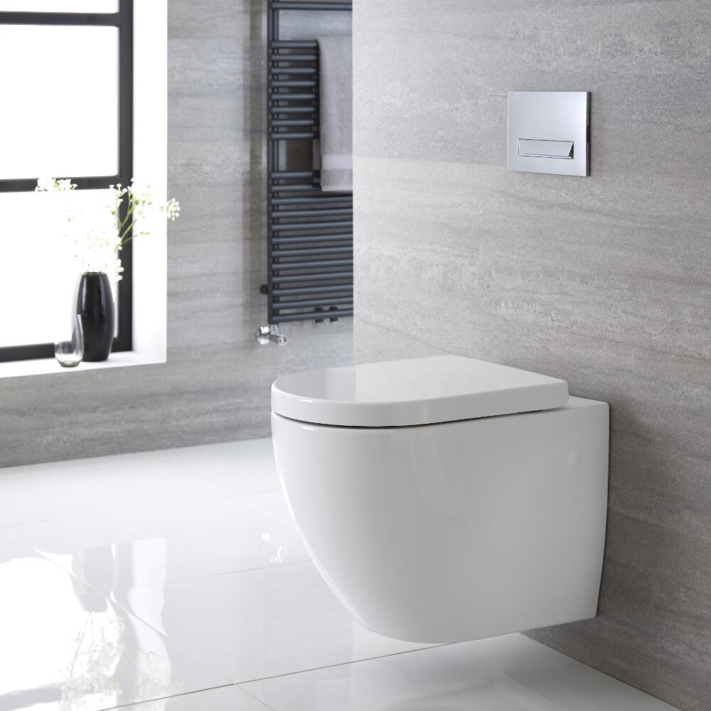Irwell Hangend Keramiek Toilet incl WC Bril Ovaal Wit