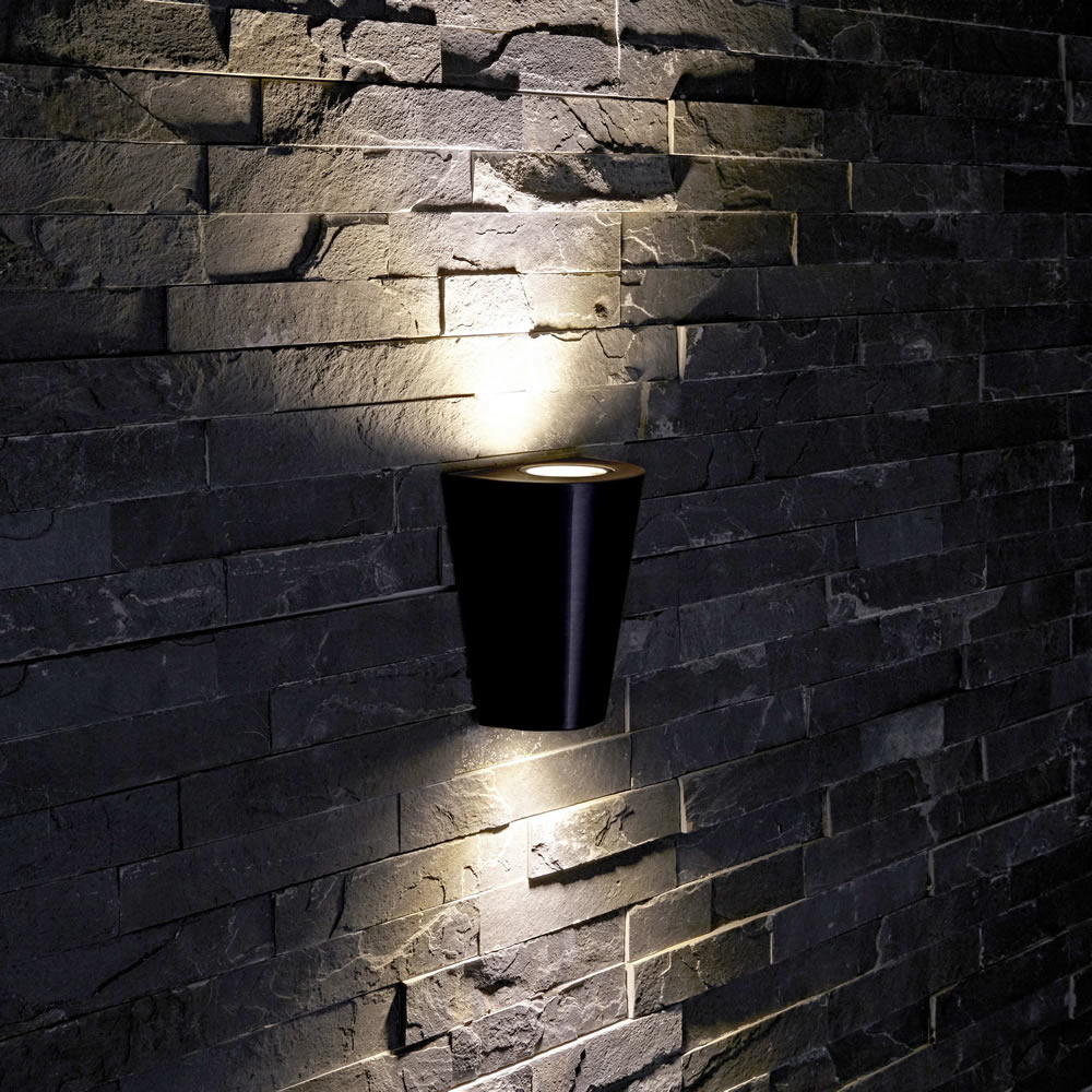 Op- en Neerwaartse Buitenlamp - Zwart - Rond
