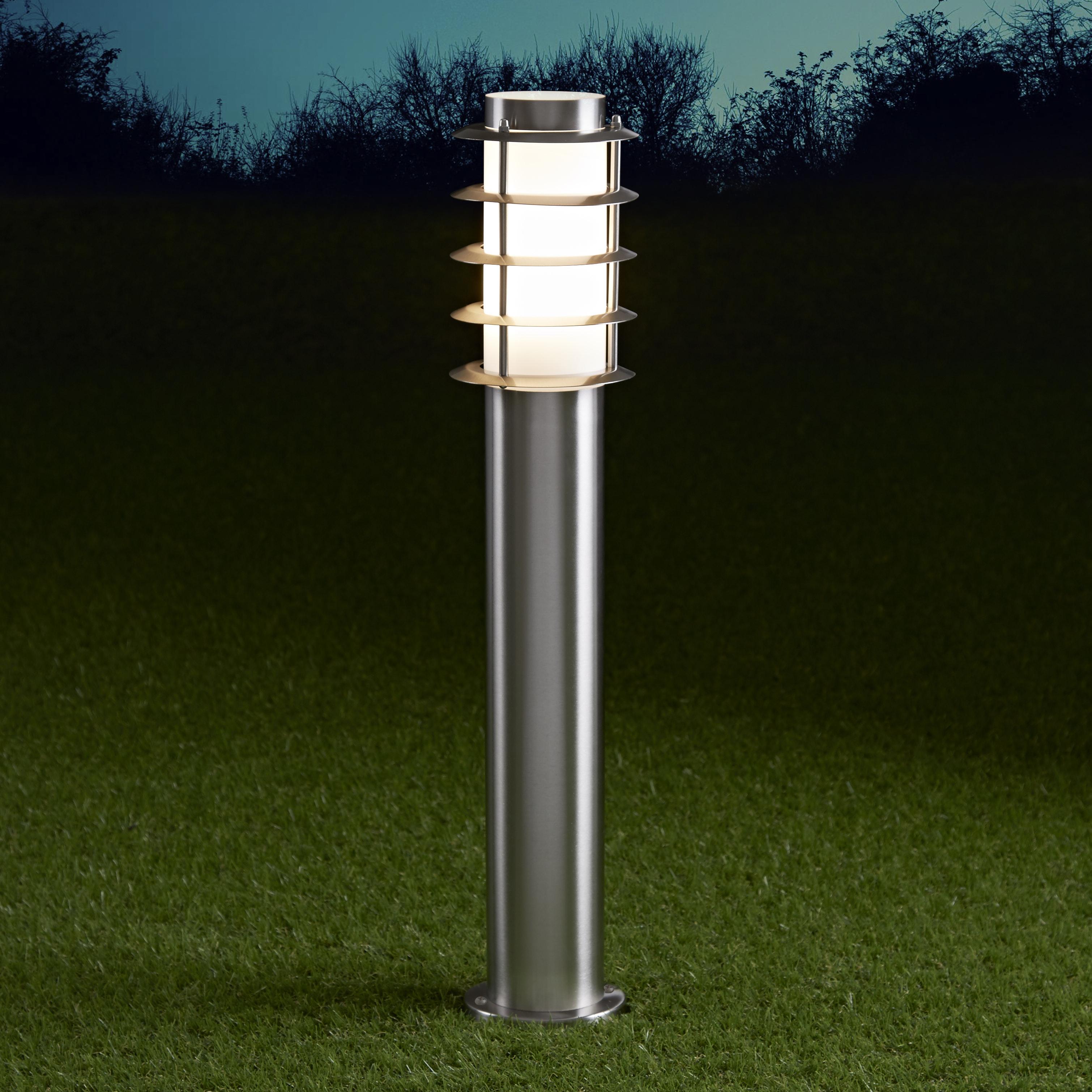 Belfort Dimbare Sokkellamp 60cm Hoog RVS IP44 E27