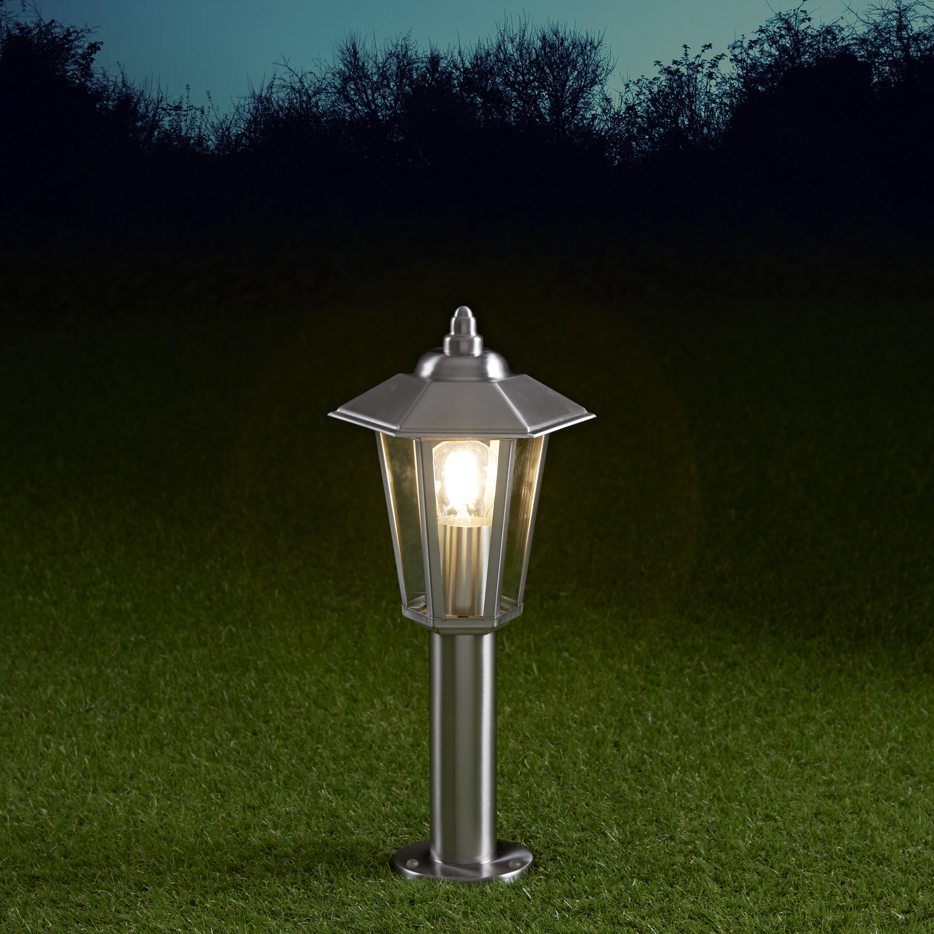 Cannes Dimbare Sokkellamp 45cm RVS E27 IP44