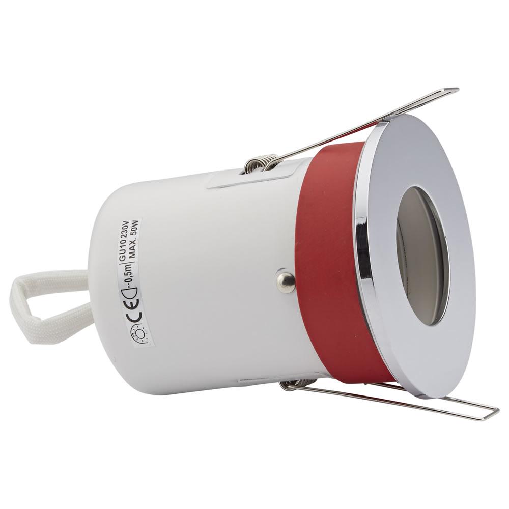 1 x IP20 GU10 Inbouwspot Excl Lamp Incl 3 x Omlijstingen Rond