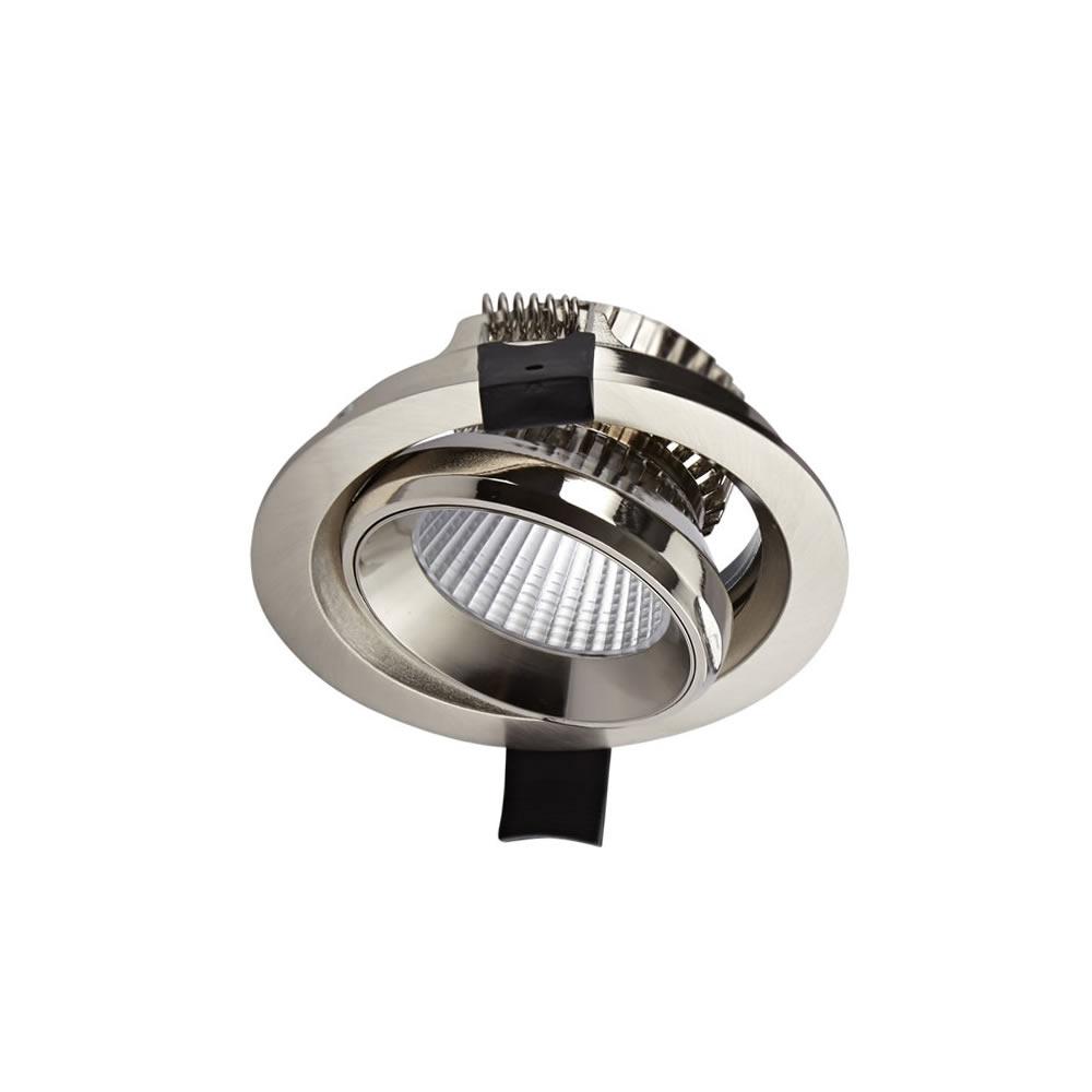 1 x 10W Dimbare & Kantelbare LED Inbouwspot incl Lamp & Driver - RVS