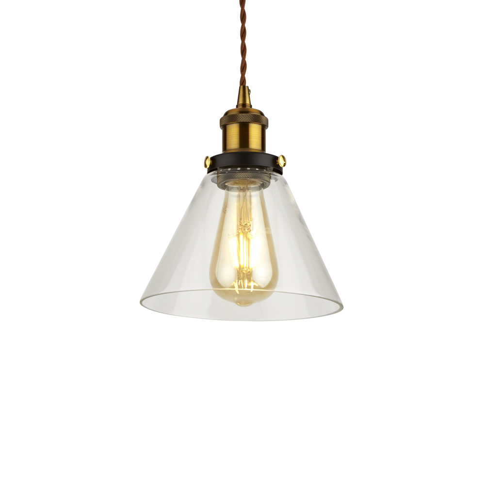 Biard Shoreditch Hanglamp Glas Industriële Stijl E27 (keus uit 3 fitting kleuren)