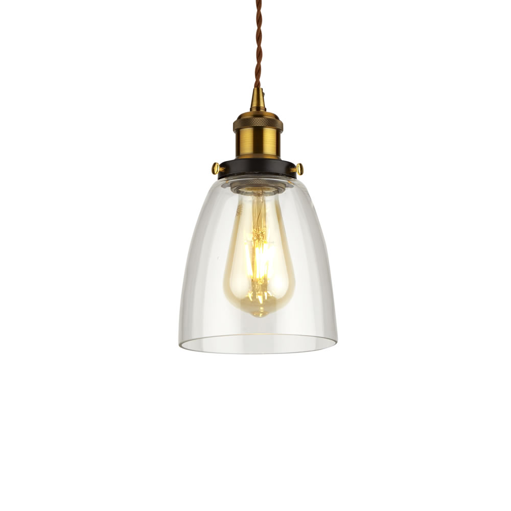 Biard Praga Hanglamp Glas Ovaal E27 (keus uit 3 fitting kleuren)
