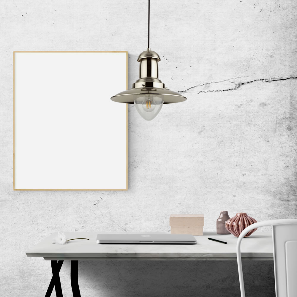 Brixham Nautische Hanglamp E27 Chroom