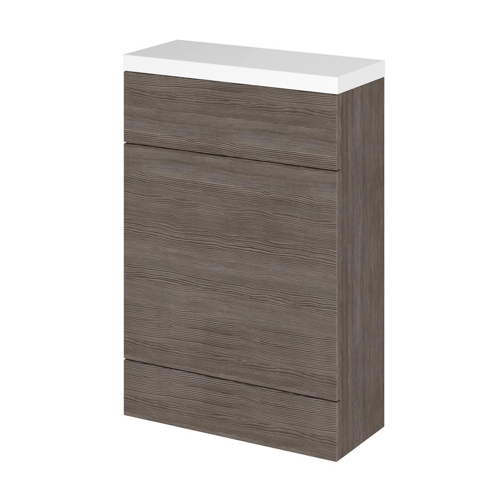500mm x 255mm X 864mm Modern Bruin/grijs Staand WC meubel - stortbak & toilet niet inbegrepen