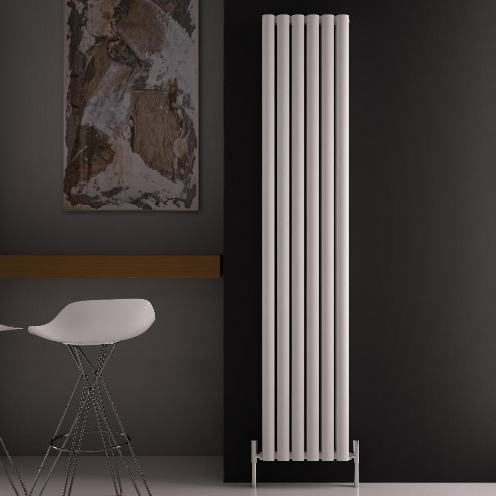 Revive Air Verticale Dubbelpaneel Designradiator - 180cm x 35cm x 7,6cm Wit 1502Watt