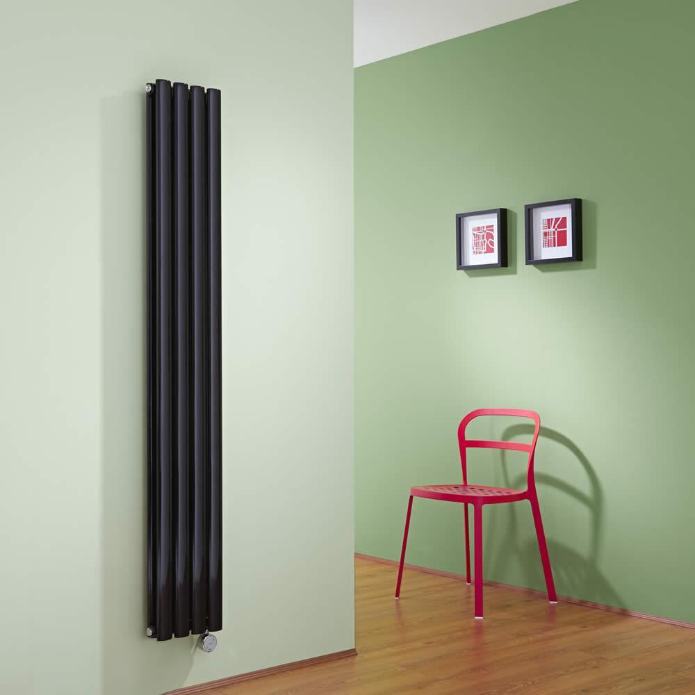 Revive Designradiator Elektrisch Verticaal Zwart 160cm x 23,6cm x 7,8cm