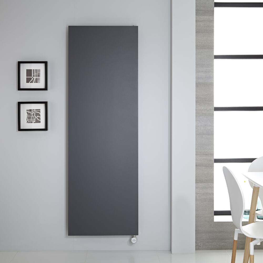 Elektrische Rubi Stalen Plaatradiator incl. Verwarmingselement - Antraciet- 180cm x 60cm