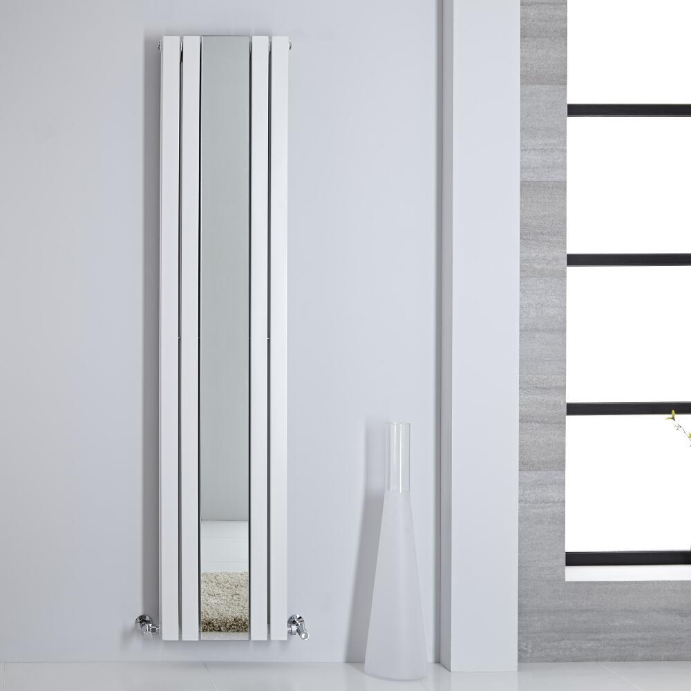 Sloane Spiegelradiator Verticaal Dubbelpaneel 180m x 38,5cm x 7,2cm Wit 1344 Watt