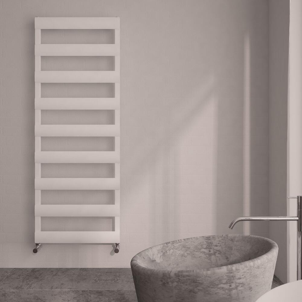 Gradus Designer Handdoekradiator Aluminium Wit 552 Watt 159 x 50 x36 cm