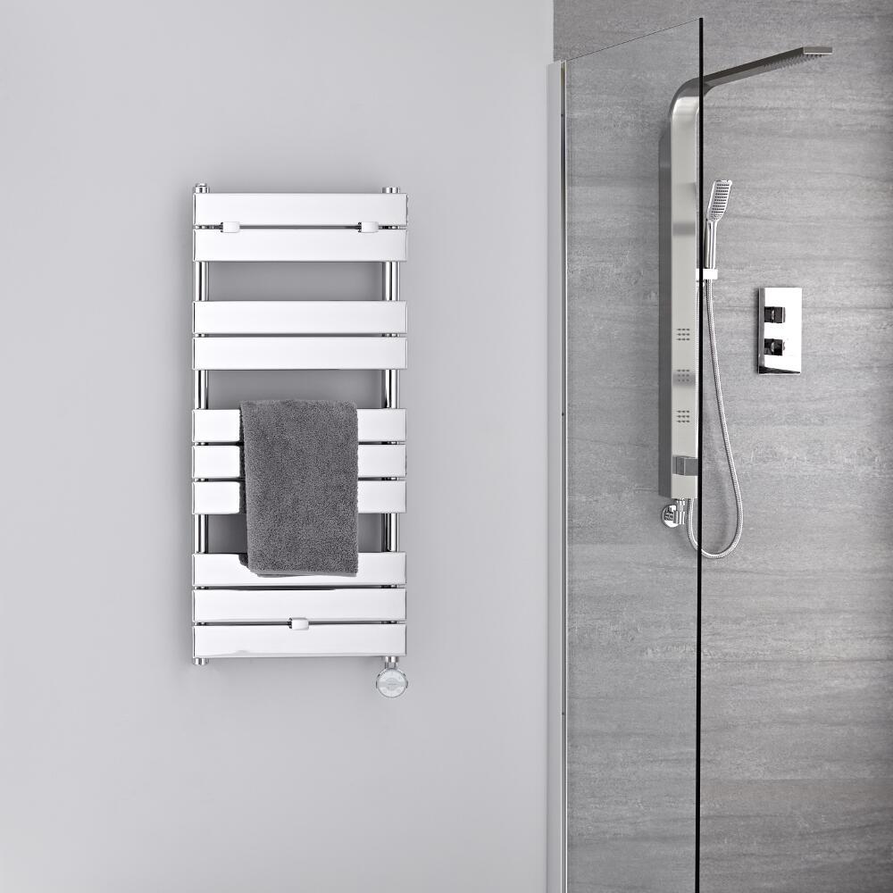 Verchroomd Stalen Elektrische Handdoekradiator incl 400 W Verwarmingselement - 100cm x 45cm