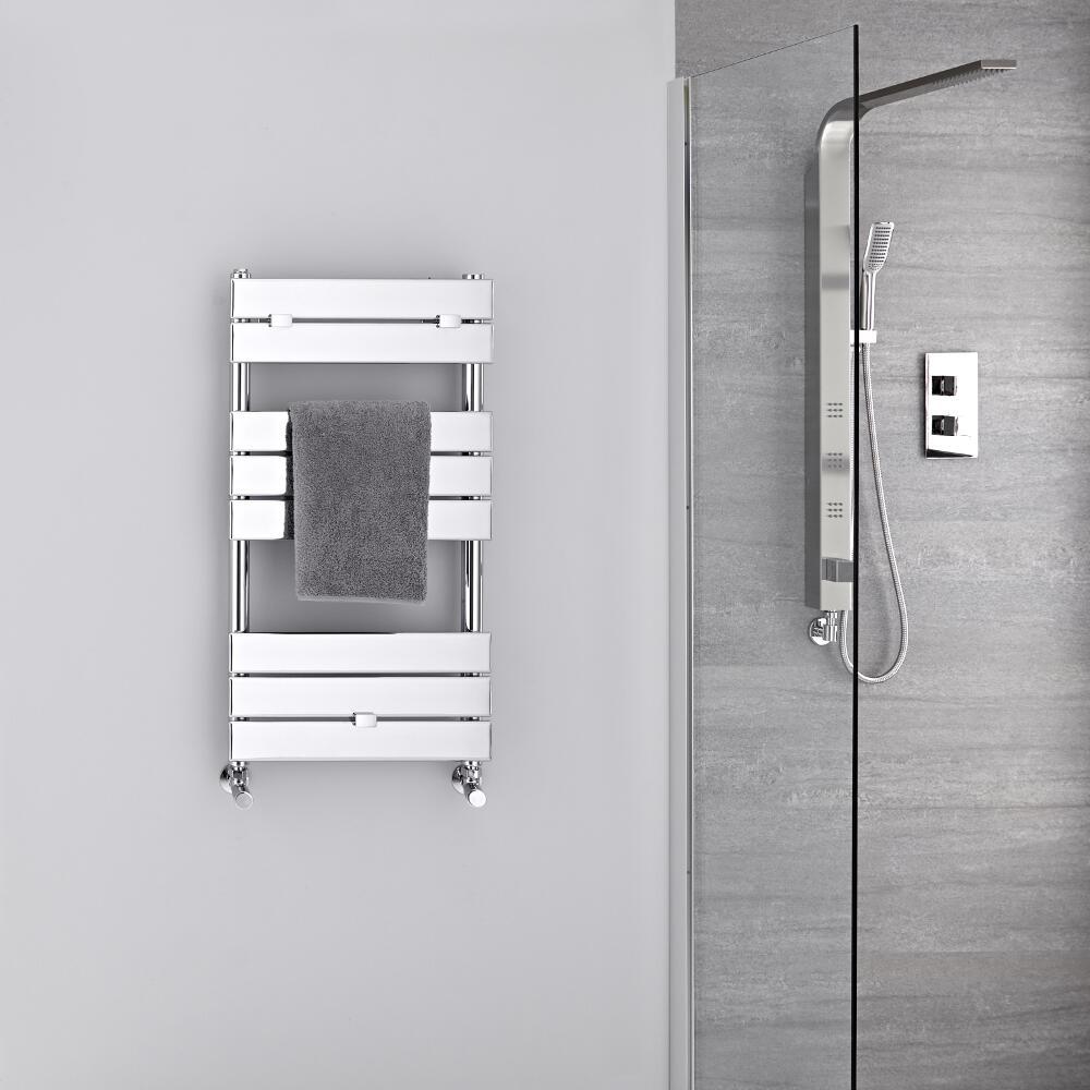 Lustro Verchroomd Handdoekradiator Staal Chroom 84cm x 45cm x 4,5cm 250Watt