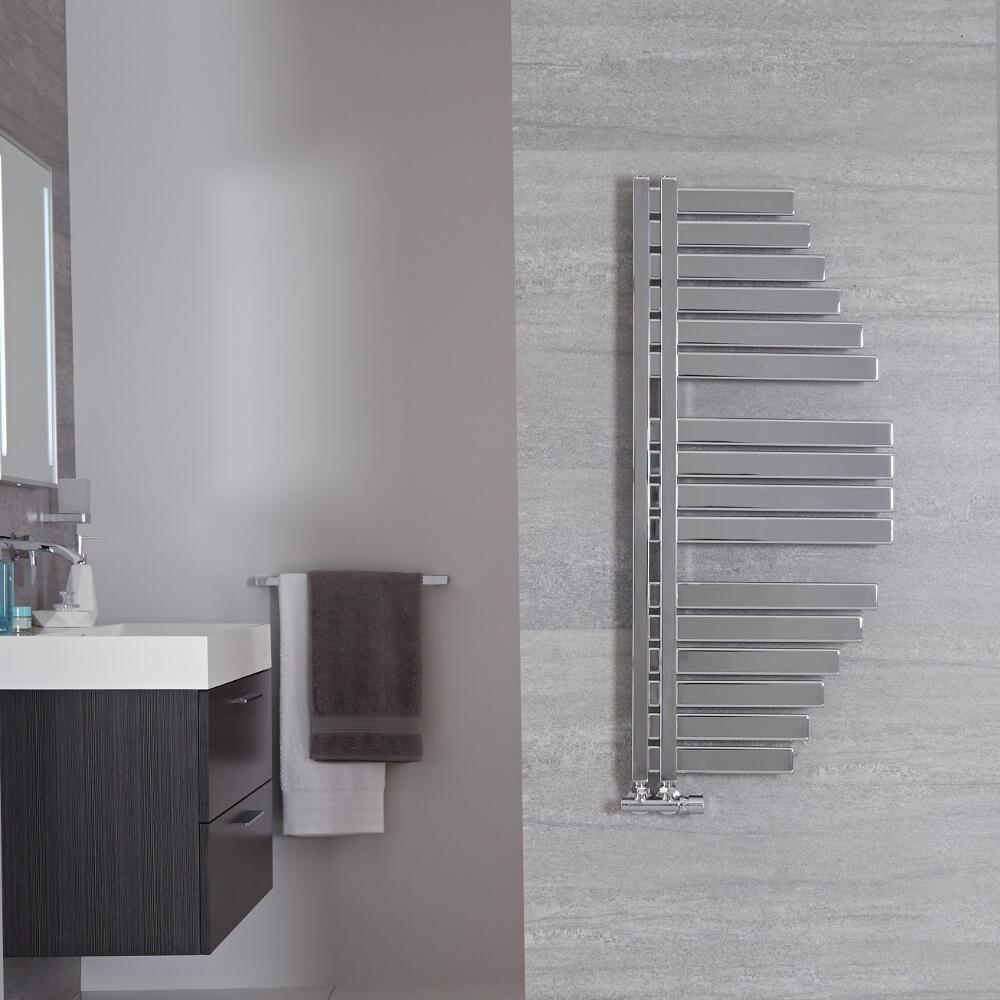 Spinnaker Designer Handdoekradiator Chroom 110cm x 48,3cm 507Watt