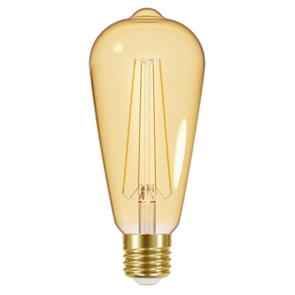 6 x Retro Gloeilampen 5W E27 ST64 Goud LED
