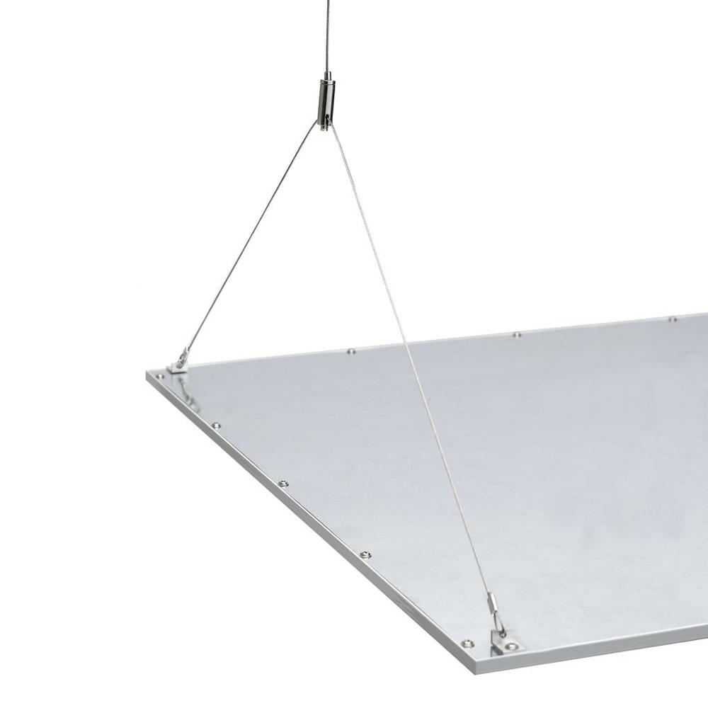 Biard RVS Suspensie Draden voor 120 cm LED Paneelverlichting - 100cm