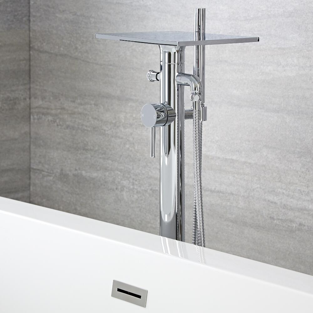 Blade 1-greeps vrijstaande badmengkraan en handdouche (easy fix)