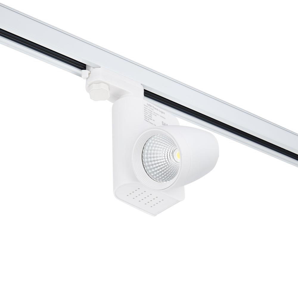 Biard 12W 3-fase LED Railspots - Wit - Rond