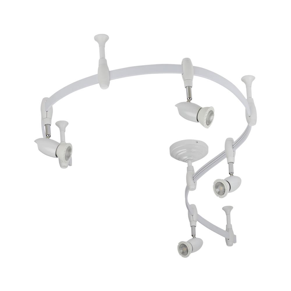 Biard Forio 200cm Flexibele Railverlichting Set incl 4 Railspots GU10 IP20 Wit