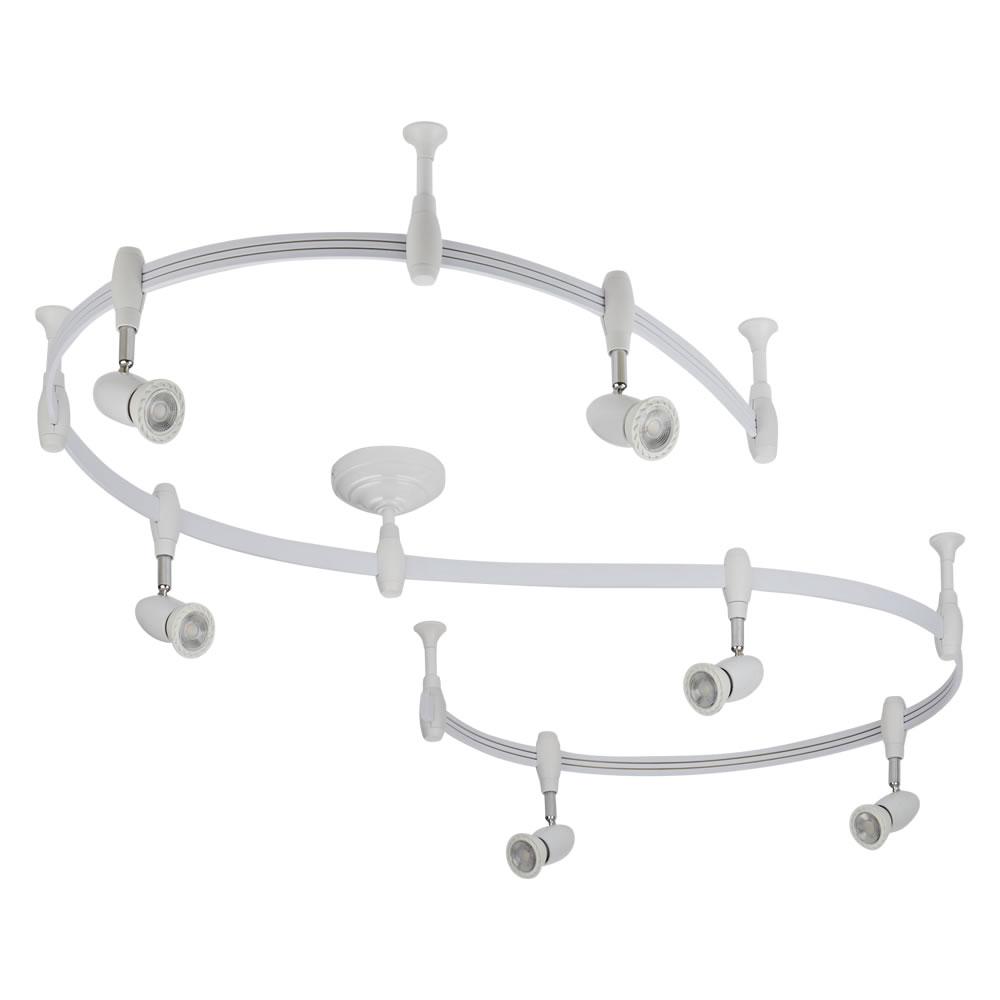 Forio 300cm Flexibele Railverlichting Set incl 5 Railspots GU10 IP20 Wit