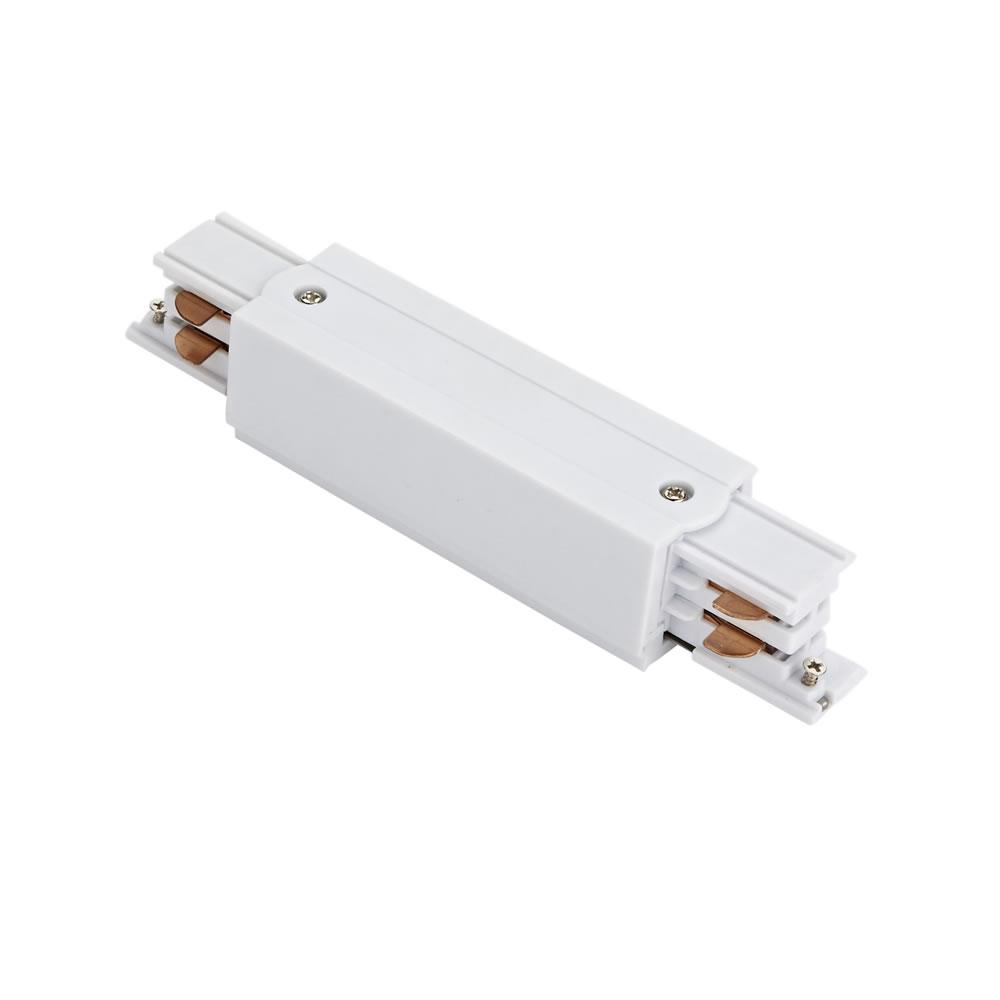 Biard 3-fase Rechte Doorverbinder voor Railverlichting - Wit