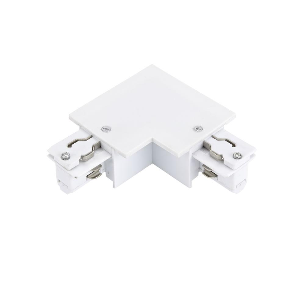 Biard 3-fase Hoek Doorverbinder voor Verzonken Railverlichting - Wit