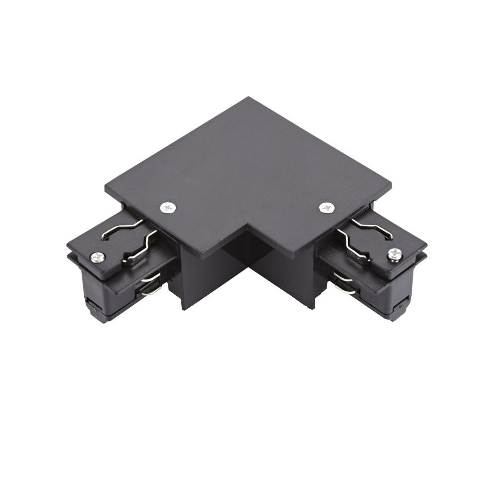Biard 3-fase Hoek Doorverbinder voor Verzonken Railverlichting - Zwart