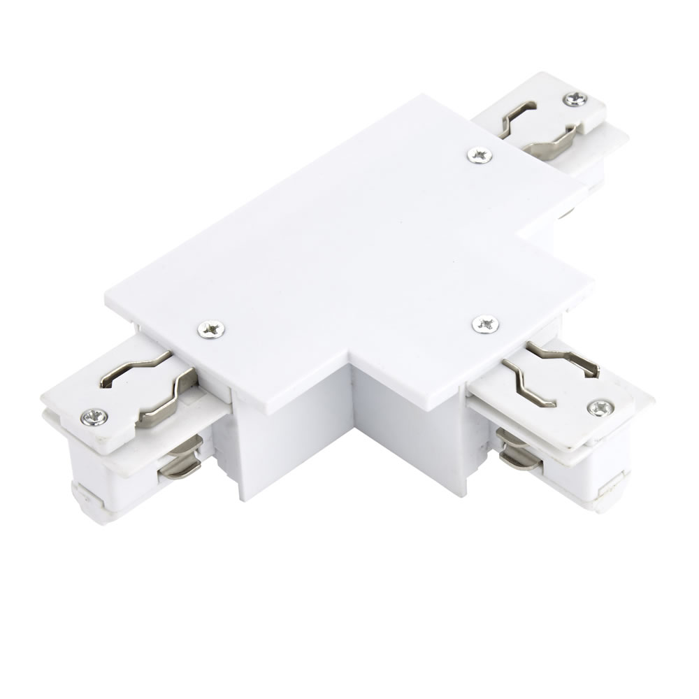 Biard T-Stuk 3-fase Doorverbinder voor Verzonken Railverlichting - Wit